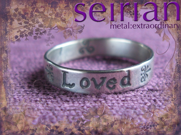 Loved silver ring made to commission by me and available from www.seirian.me £40