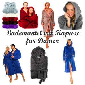 Ein paar beliebte Modelle Bademantel mit Kapuze für Damen