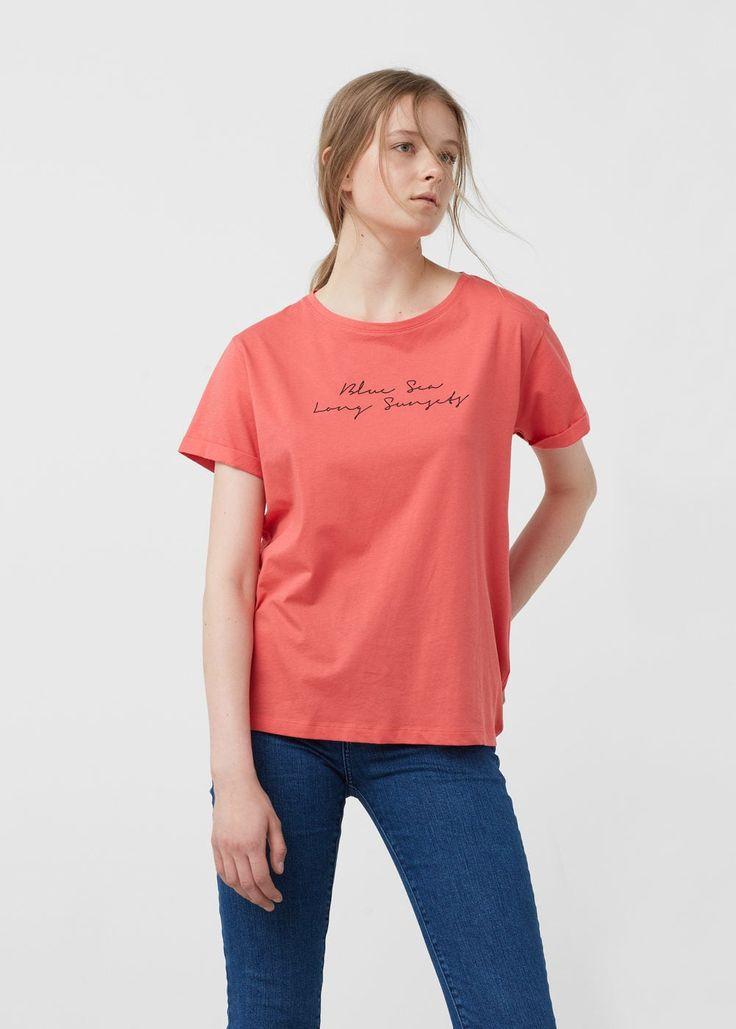 Camiseta algodón orgánico | MANGO