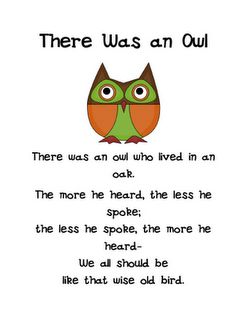 """Wise Owl verse; correlate with James 1:19: """"Understand this, my dear brothers and sisters: You must all be quick to listen, slow to speak, and slow to get angry."""""""