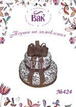 Свадебный торт с бантами