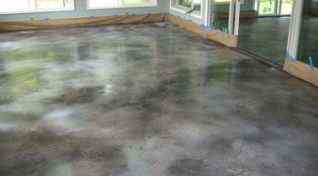 Concrete Dye Sunroom
