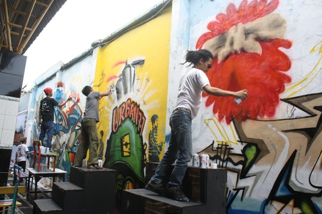Mural, Graffity and Stencil in Surabaya City