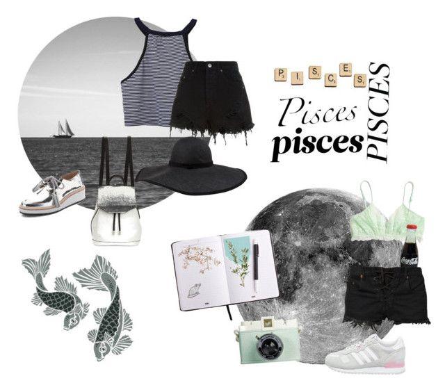 pisces by sadgoddess on Polyvore featuring Ksubi, Bitching & Junkfood, Madewell, adidas Originals, Loeffler Randall, rag & bone, Frette, Canopy Designs, Albino and Hasbro