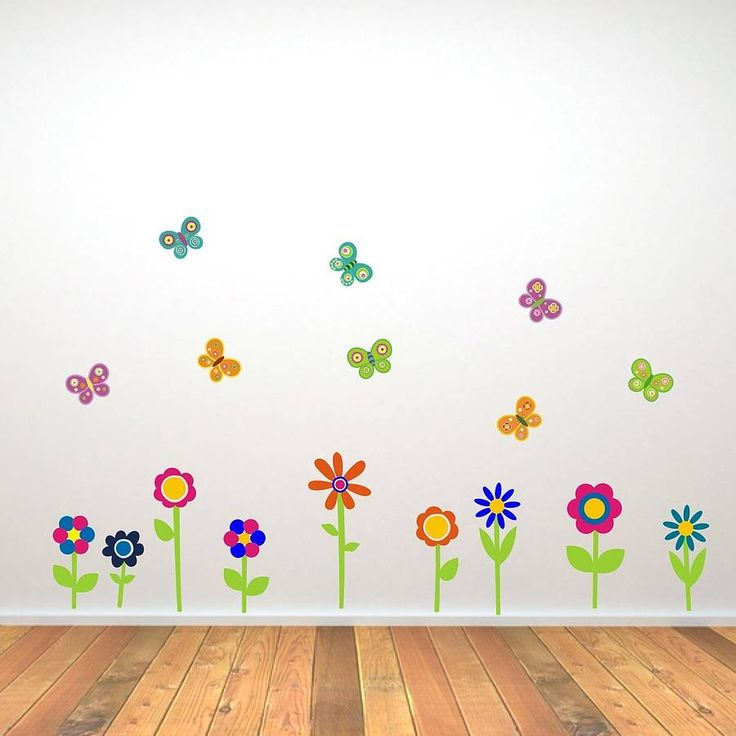 flowers and butterflies wall stickers by mirrorin | notonthehighstreet.com