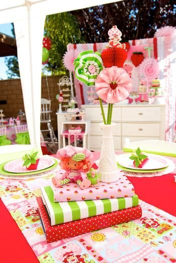 Hostess with the Mostess® - Vintage Strawberry Shortcake Inspired 1st Birthday Party