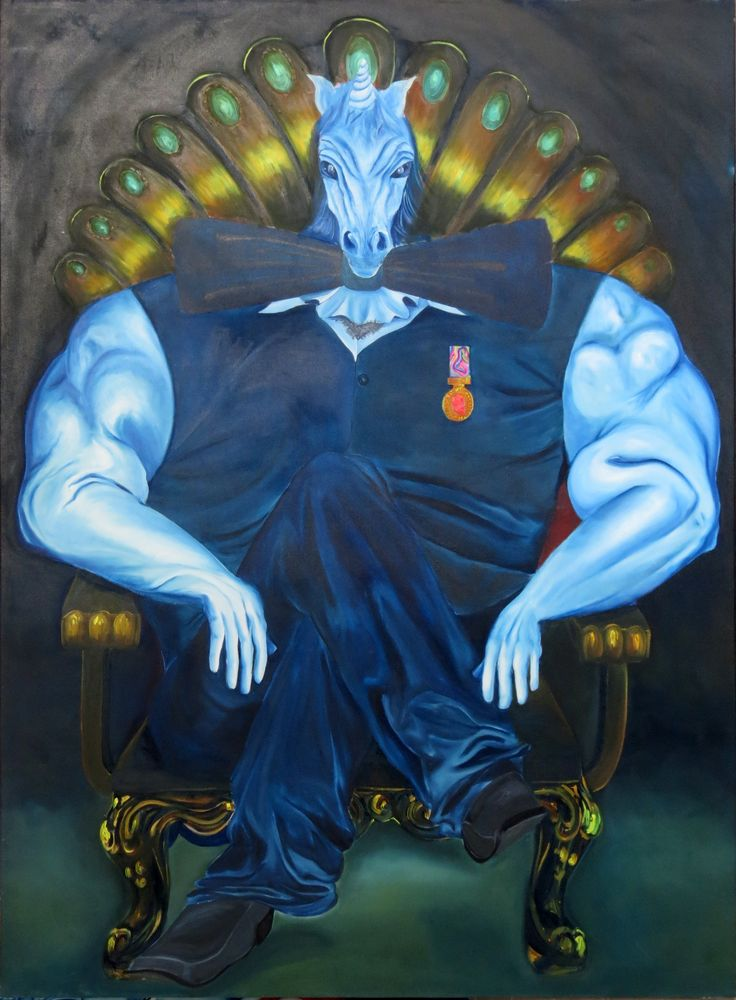Kiran shah -  Untitled - oil on canvas - 72 x 54 Inches -Price upon request