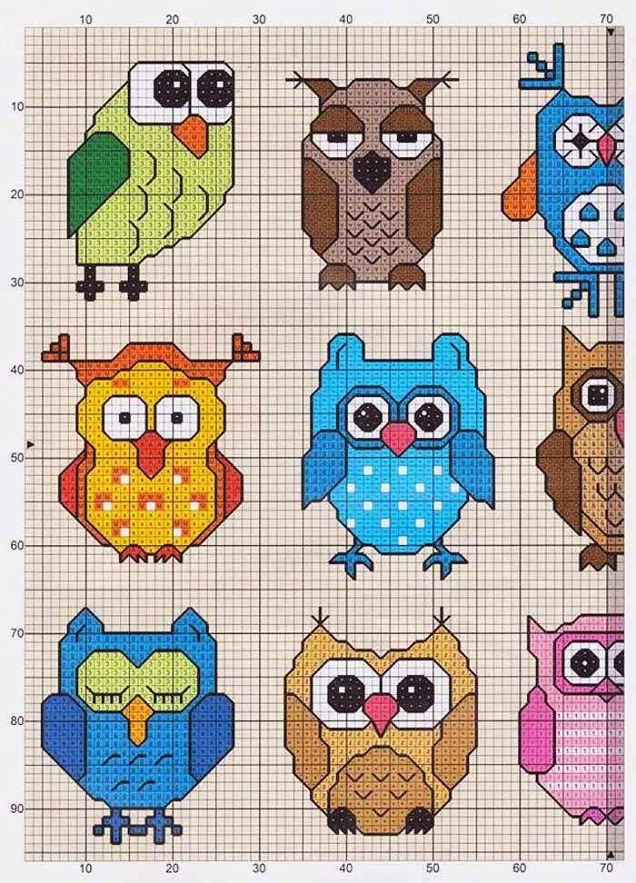 Kanaviçe Şemaları: Kanaviçe Baykuş Şeması