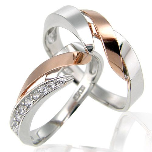 Silver 7311 Couple rings