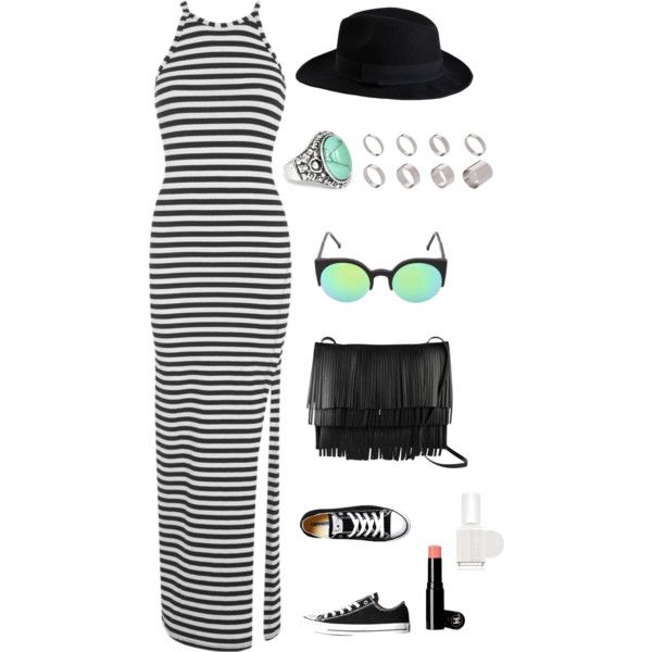 Untitled #9 by ariannavillegas on Polyvore featuring polyvore, fashion, style, Miss Selfridge, Converse, Proenza Schouler, ASOS, Pieces, RetroSuperFuture and Essie