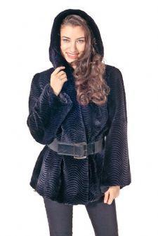 Navy Blue Fur Zebra Pattern - Jackets are all sold at madisonavemalll.com. $1495