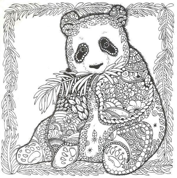 Zentangle Panda Bear