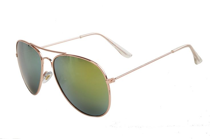 Ray Ban Aviator Gradient RB3025 Green Rose Gold Sunglasses ARM