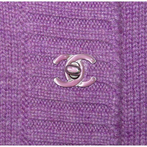 depot vente de luxe en ligne chanel veste gilet long en cachemire violet et fermoir CC | TendanceShopping.com found on Polyvore