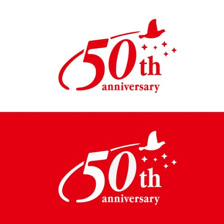 「50周年記念ロゴデザインを募集します!」へのCalicocatさんの提案一覧