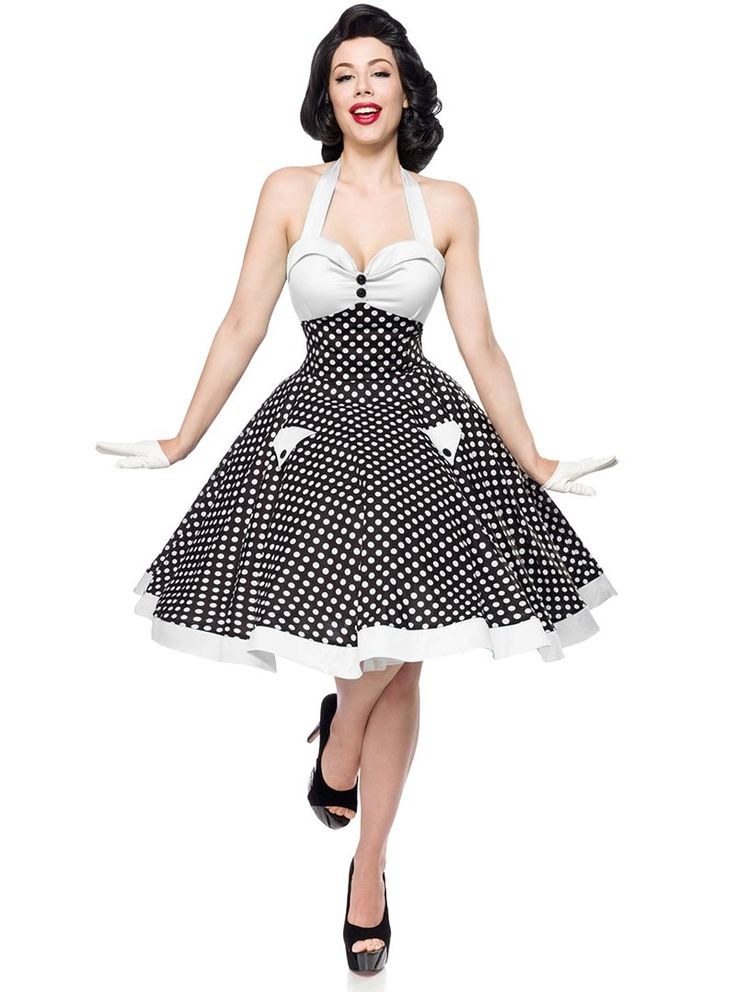 robe pin up retro ann es 50 rockabilly belsira white white dots v tements rockabilly femme. Black Bedroom Furniture Sets. Home Design Ideas