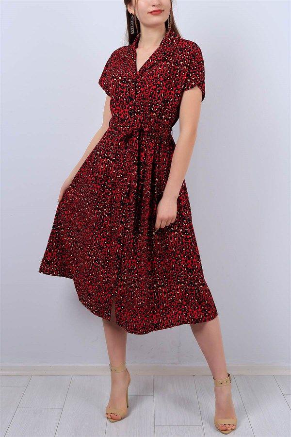 Desenli V Yaka Bayan Gomlek Elbise 12952b Gomlek Elbise Elbise The Dress