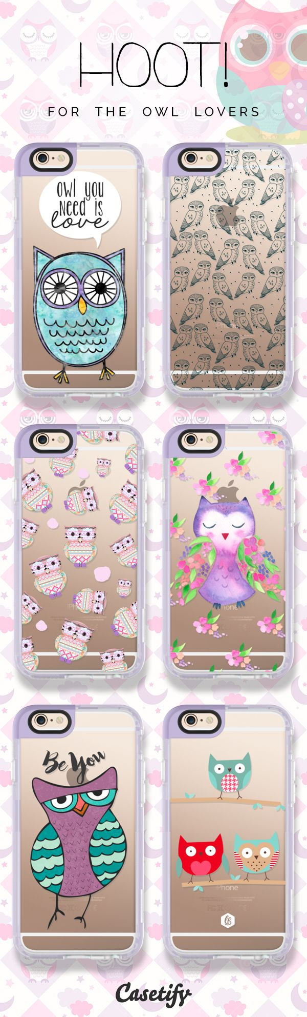 Keep calm and hoot on! Shop these cases featuring owls here: https://www.casetify.com/artworks/kWkXziC5SR     @casetify