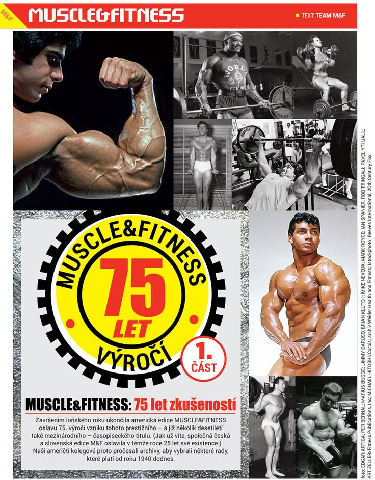 MUSCLE&FITNESS: 75 let zkušeností - 75 years of experience with MUSCLE&FITNESS.