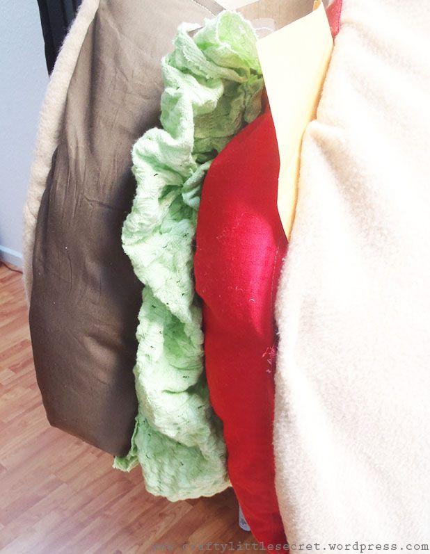 Homemade hamburger costume