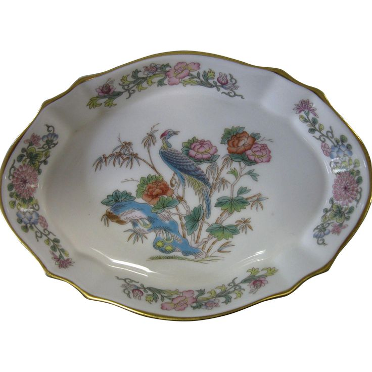 Vintage Wedgwood Bone China Kutani Crane Dish England circa 1974  sc 1 st  Pinterest & 41 best Wedgwood bone china ... images on Pinterest | Bone china ...