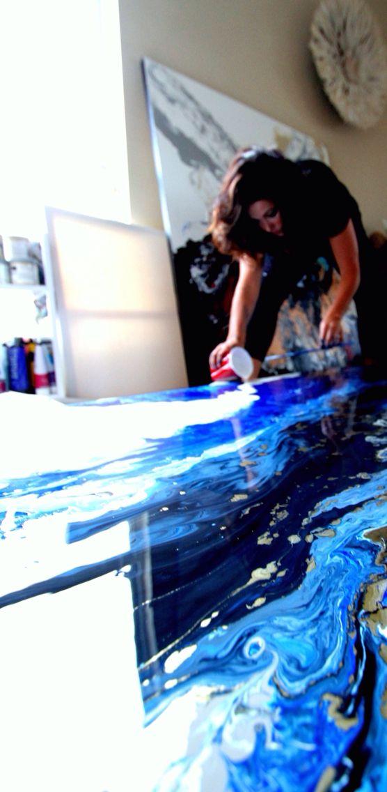 Artist at work. Artist in Studio. Laura Adams Wilson                                                                                                                                                      More