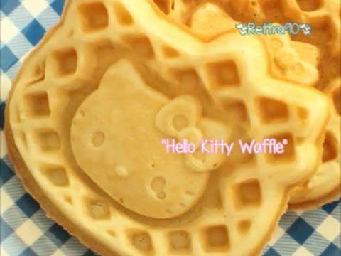 Making Hello Kitty Waffle - YouTube