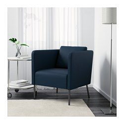 IKEA - EKERÖ, Fåtölj, Skiftebo blå