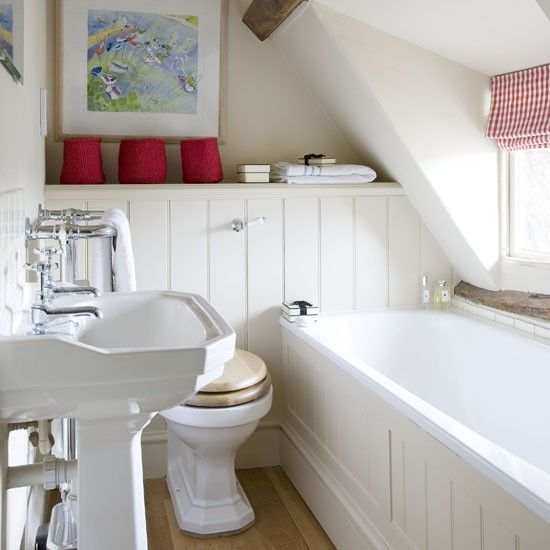 17 Best Ideas About Small Attic Bathroom On Pinterest