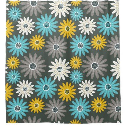First Impression Floral Shower Curtain - shower gifts diy customize creative