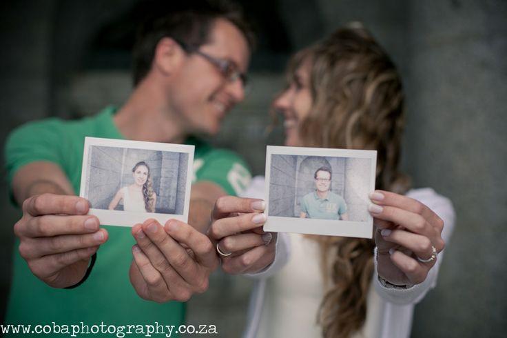 Polaroid Engagement at Rhodes Memorial. #engagementshoot