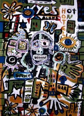 "Saatchi Art Artist dimitris p; Painting, ""Street Art-Alone in the city"" #art"
