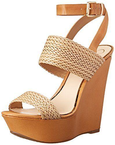 Jessica Simpson Womens Eila2 Wedge Sandal NaturalAmber 10 M US ** For more information, visit image link.
