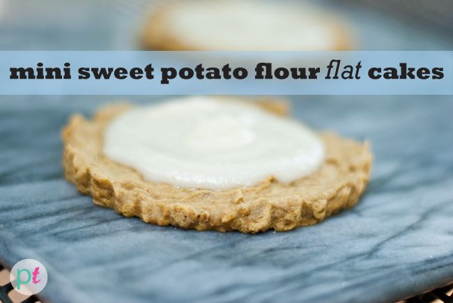 """mini sweet potato flour """"flat"""" cake recipes (made with just 6 ingredients)"""