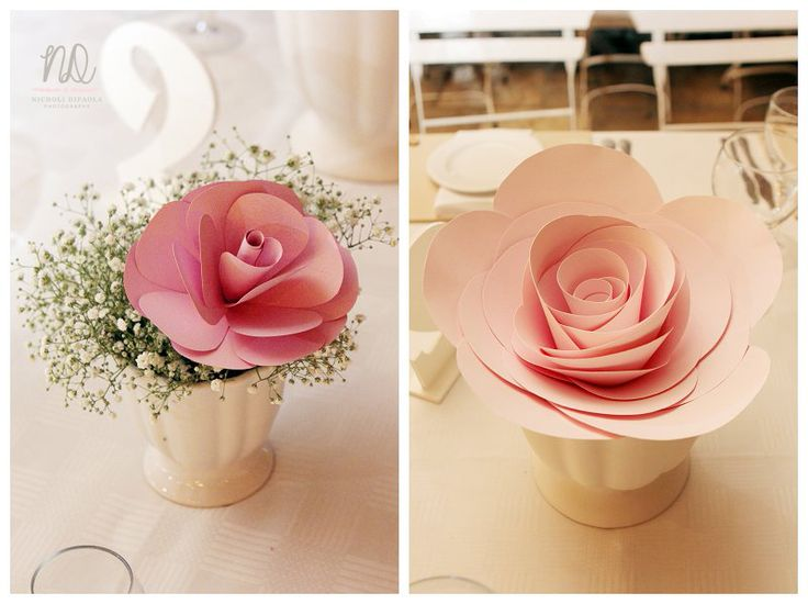 Wedding table flowers. Absolutely beautiful by MiaBella Paper Productions!