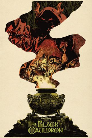 The Black Cauldron - One of Disney's darkest animated features, but some of the most beautiful art.