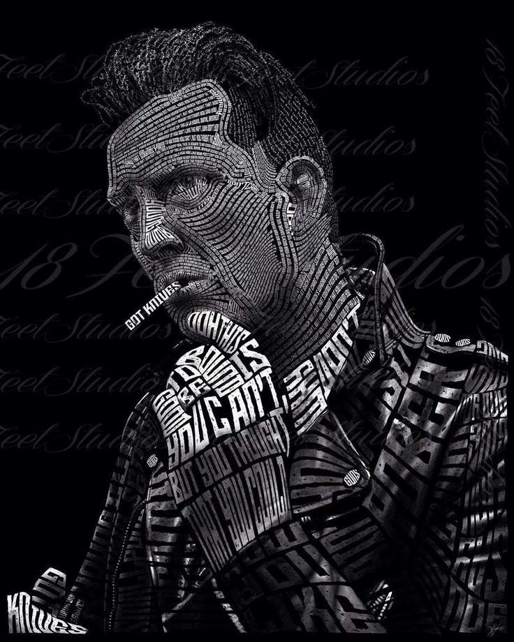 Josh Homme Typography Portrait by lilysmom85.deviantart.com on @DeviantArt
