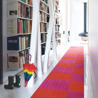Want FLOR: Carpets Tile Playrooms, Idea, White Spaces, Color, Flore Carpets Tile, Area Rugs, Interiors Design, Long Hallways, Books Nooks