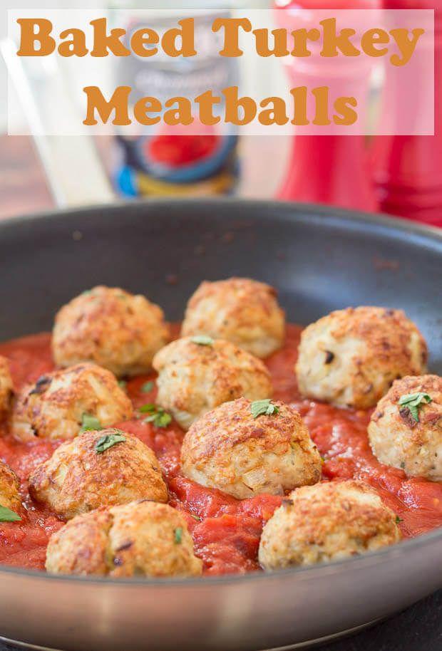 Baked Turkey Meatballs In Tomato And Chilli Sauce Recipe Quick