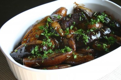 Balsamic And Rosemary Glazed Fingerling Potatoes Recipe — Dishmaps
