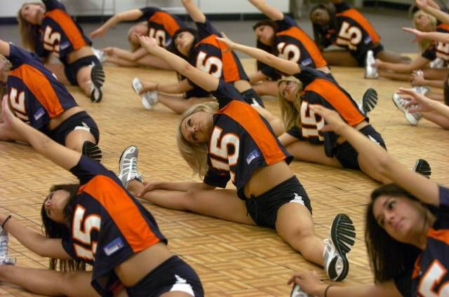 Denver Broncos cheerleaders.