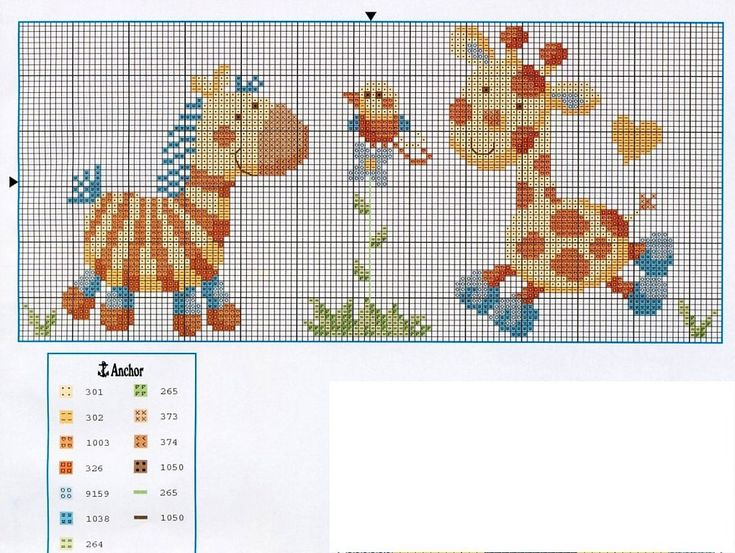 Baby Giraffee and Zebra Cross-Stitch