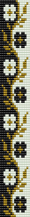 Beaded loom bracelet pattern, PDF seed bead bracelet, DIY beading, Instant download, Bookmark flower pattern, Digital square stitch jewelry ++++++++++++++PDF Instant Digital Download ++++++++++++ This is a pattern for a bracelet, not the real bracelet. I use Miyuki Delica seed beads