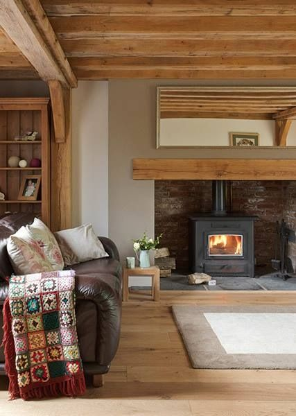 Contemporary country wood burner