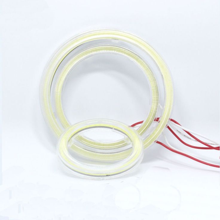 1pair Auto Halo Rings Angel Eye COB Chips Headlight 60mm 70mm 80mm 90mm 100mm Car Angel Eyes Motorcycle With Lampshades Bright