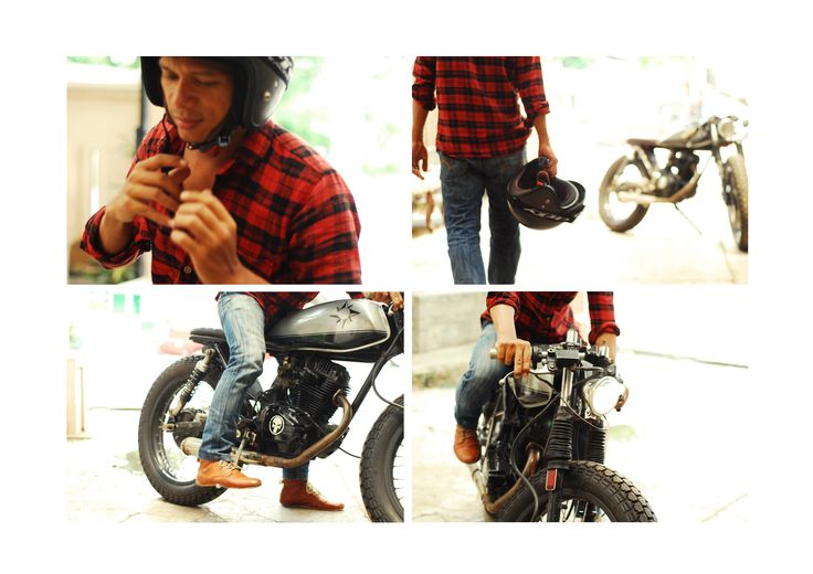 Benk!, is my friend. he build a cafe racer bike from the basic a honda's GL 125 series