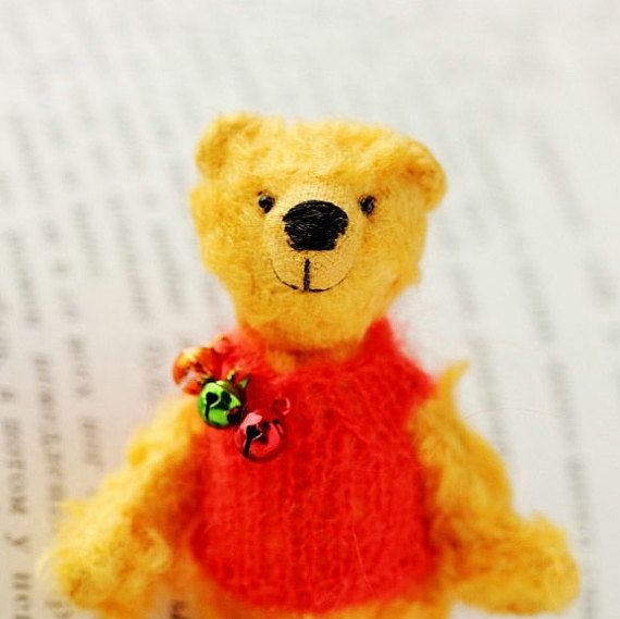 Winnie the Pooh  Miniature Collectible Teddy Bear  3.1 by Lolatoy