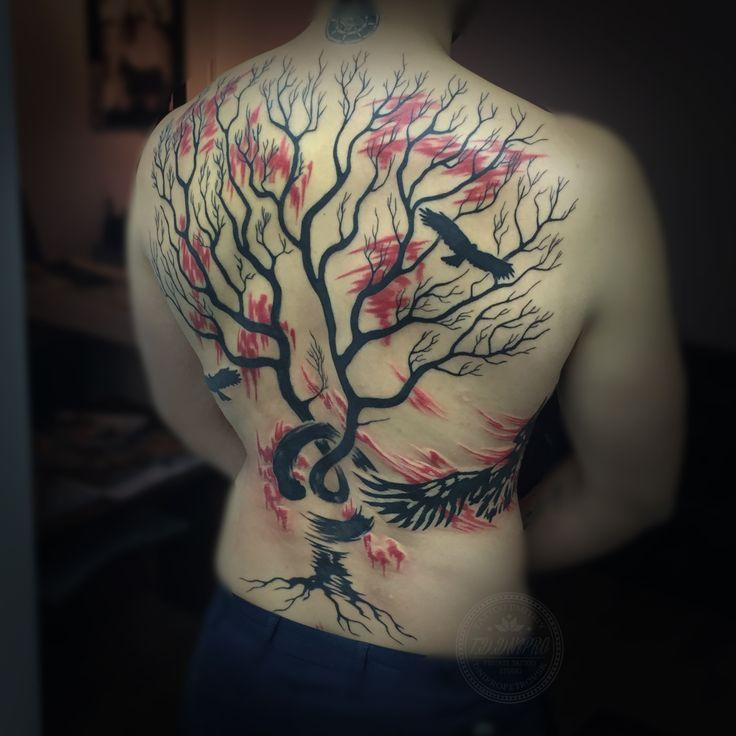 #Tattoos #Ukraine #Yavtushenko #Private #Tattoo #Studio #Art #Dnepropetrovsk #Ink #Artist #BlackWork #Vip #Follow #TrashPolka #Red