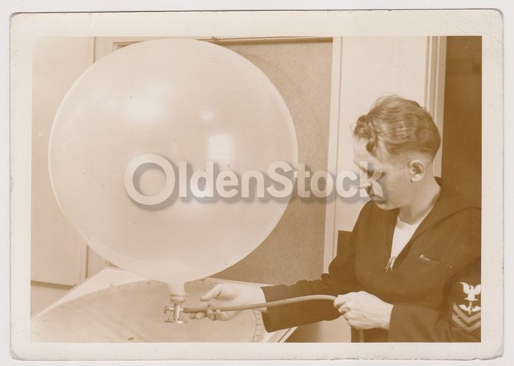 Navy Weather Balloon in Kodiak Alaska Vintage WWII Military Snapshot Photo