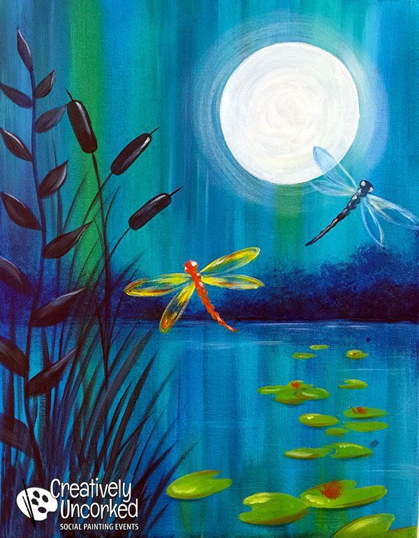 Dragonfly Night | Creatively Uncorked | http://creativelyuncorked.com